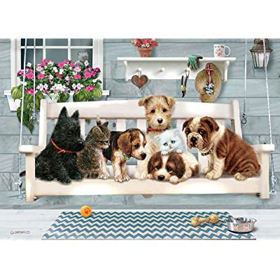 Cobblehill 58885 Tray 35 Porch Swing Buddies Puzzle, Various: Toys & Games