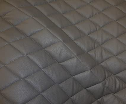 Amazon Com Grey Quilted Faux Vinyl Fabric With 3 8 Foam Backing