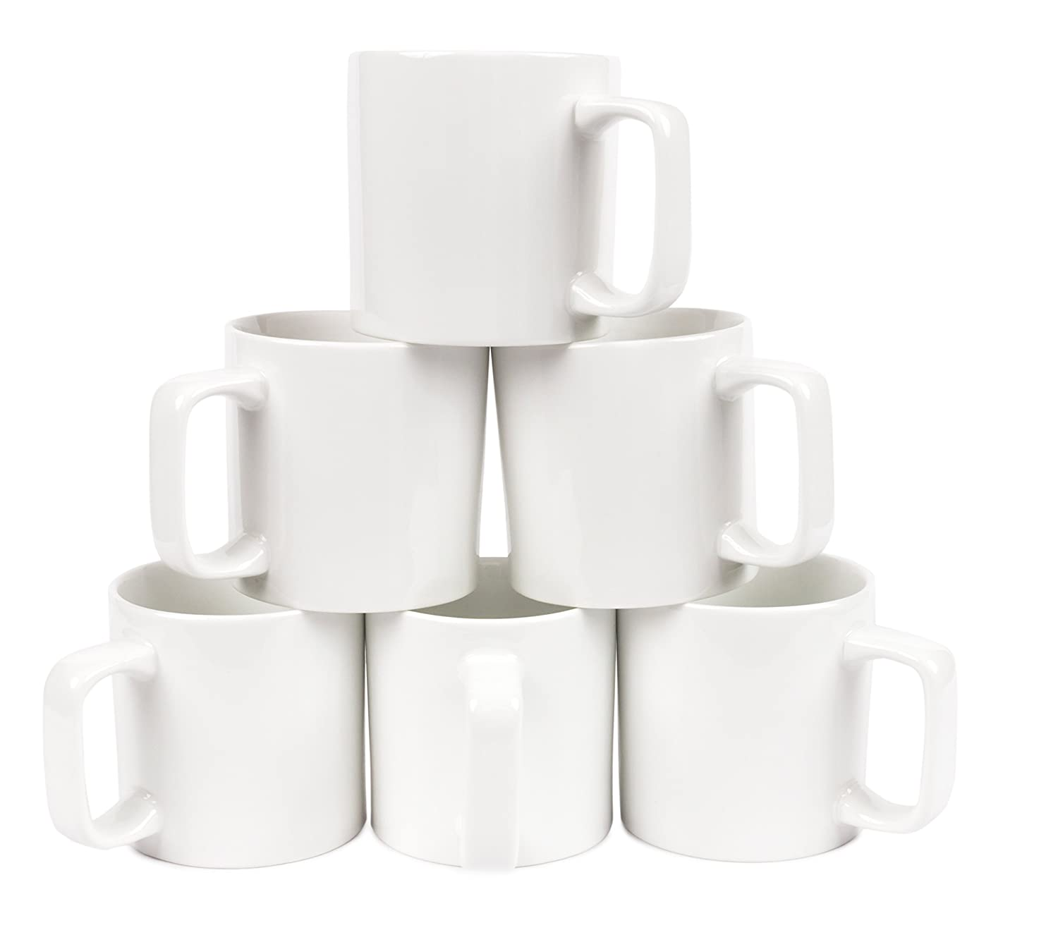 Oxford Gourmet Large Coffee/Tea Mug Set (6 Pcs) (White)