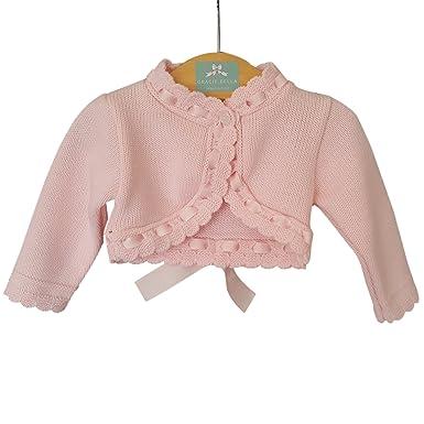5510282a3 DIZZY DAISY Baby Girls Pretty Spanish Style Bow   Ribbon Cardigan ...