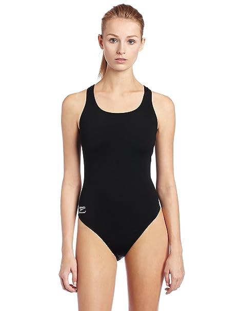 Speedo Race Endurance+ Polyester Solid Super Pro Swimsuit, Black, 26