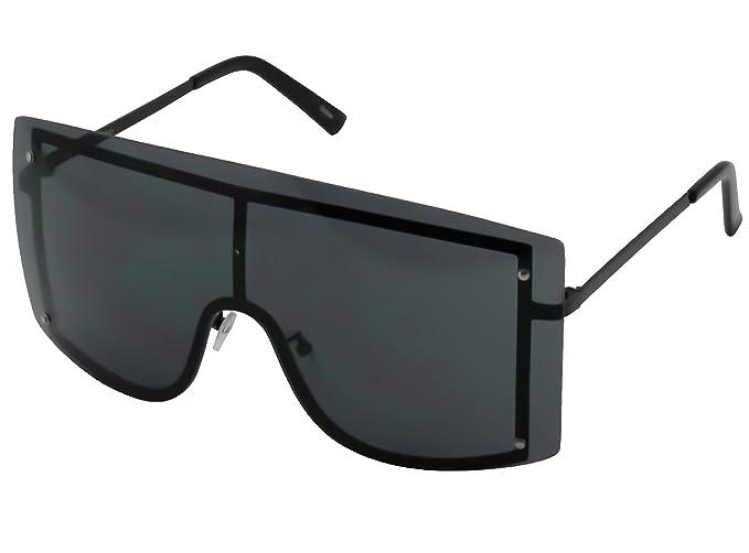 OVERSIZED VINTAGE RETRO Huge Big MASK SHIELD Half Face Owen Style SUNGLASSES  (Black) 5c5c69b76