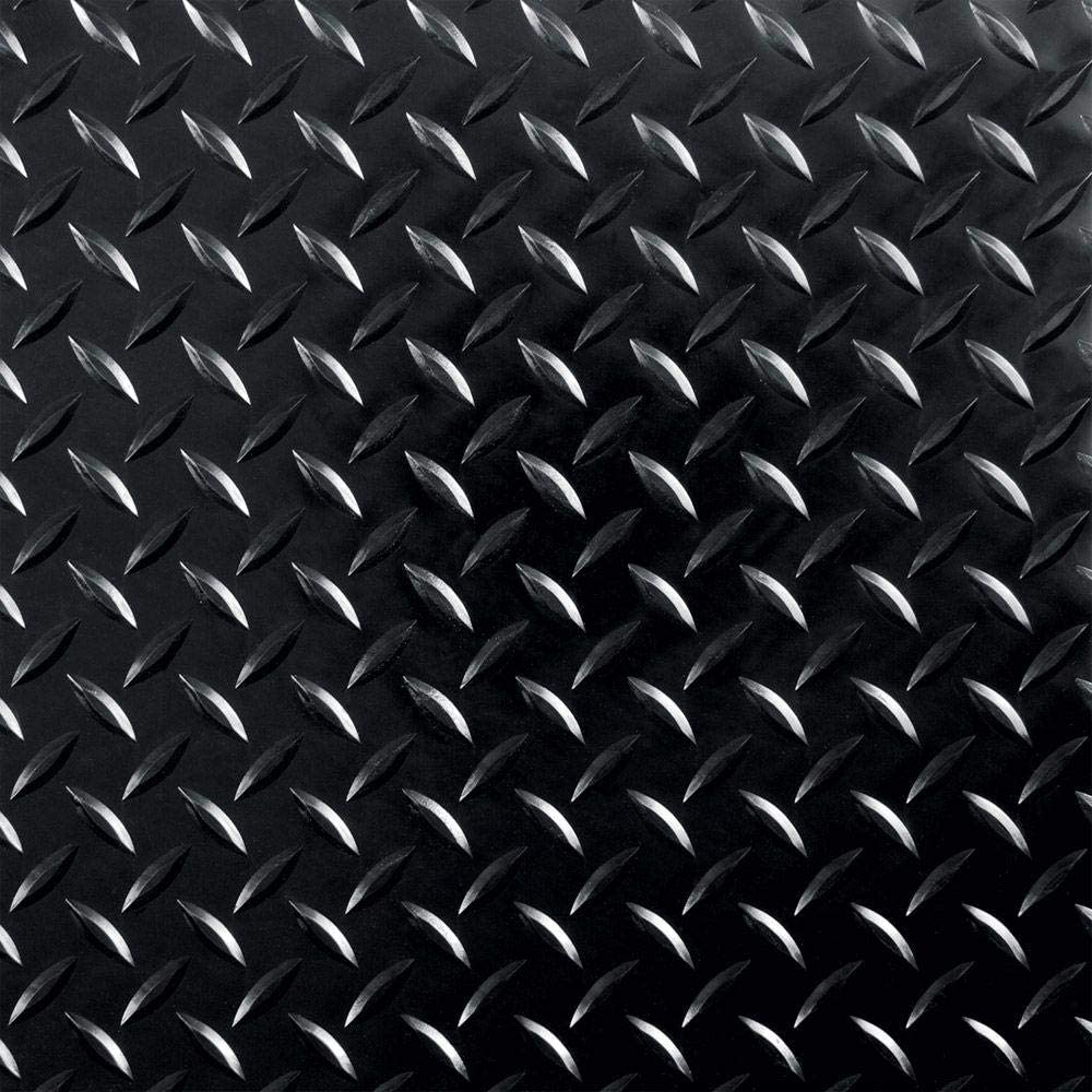 G Floor Raceday Diamond Tread 12 X 12 Peel And Stick Tile In Midnight Black Set Of 20