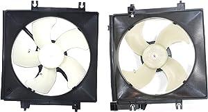 Radiator Cooling Fan w/A/C Condenser Fan for 2005-2014 Subaru Outback LH & RH