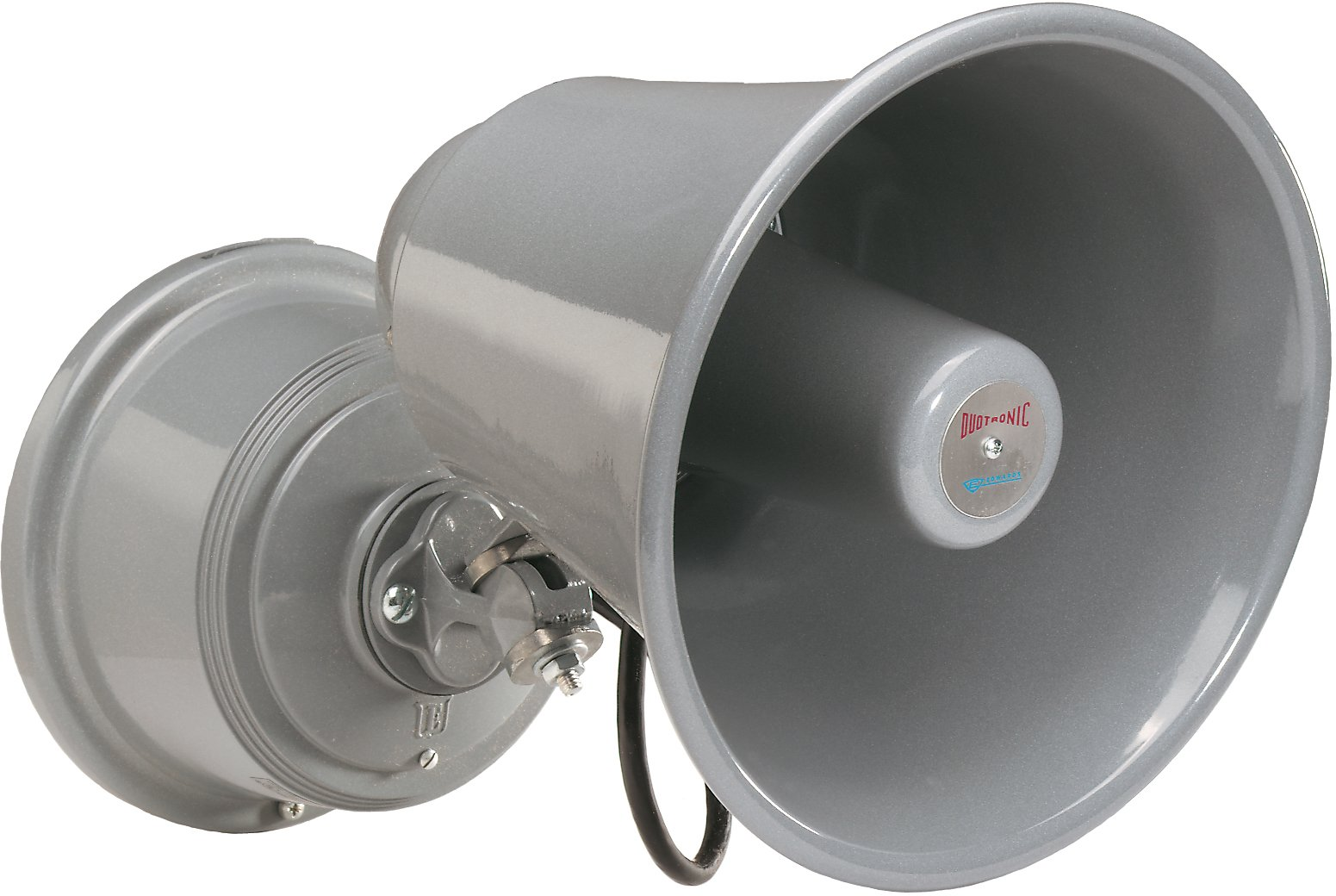 Edwards Signaling 5520-N5 Electronic Horn and Siren, 124/114 db (Horn), 112/102 db (Siren), Low Current, High Decibel, 120V AC, Gray