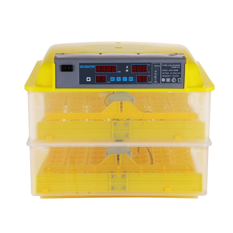 Summile Egg Incubator 112 Eggs Automatic Egg Incubator Hatcher Digital Control Panel Egg Incubators (112 Eggs)