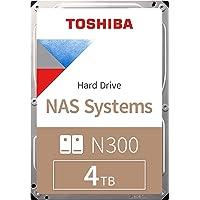 "Toshiba N300 NAS SATA, 7200rpm, 128MB Buffer, 3.5"" Form Factor Internal Hard Drive, 4TB, HDWQ140UZSVA - Local Unit"