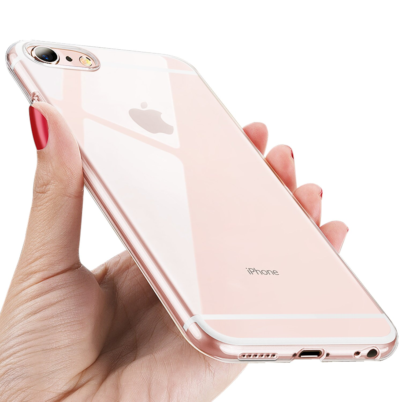 Ubegood Coque iPhone 6s Silicone iPhone 6 Etui Housse Givré Coque iPhone 6 Anti-dérapante Ultra-Mince Anti-Rayures Bumper Case Apple iphone 6S Case Cover, Givré Noir UBEiPhone6sRB2