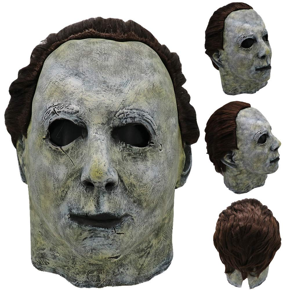 HHmei_Toys Night Club Mask| Cosplay Michael Myers Melting Face Overhead Latex Costume Prop Scary Mask Toy