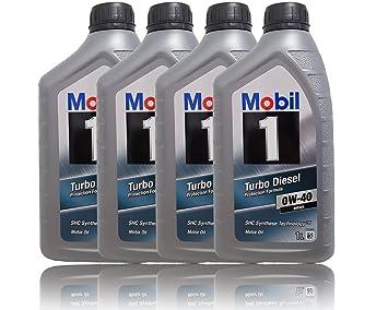 Mobil 1 Turbo Diesel 0 W de 40 4 x 1 l d/AT antifricción motorenöl
