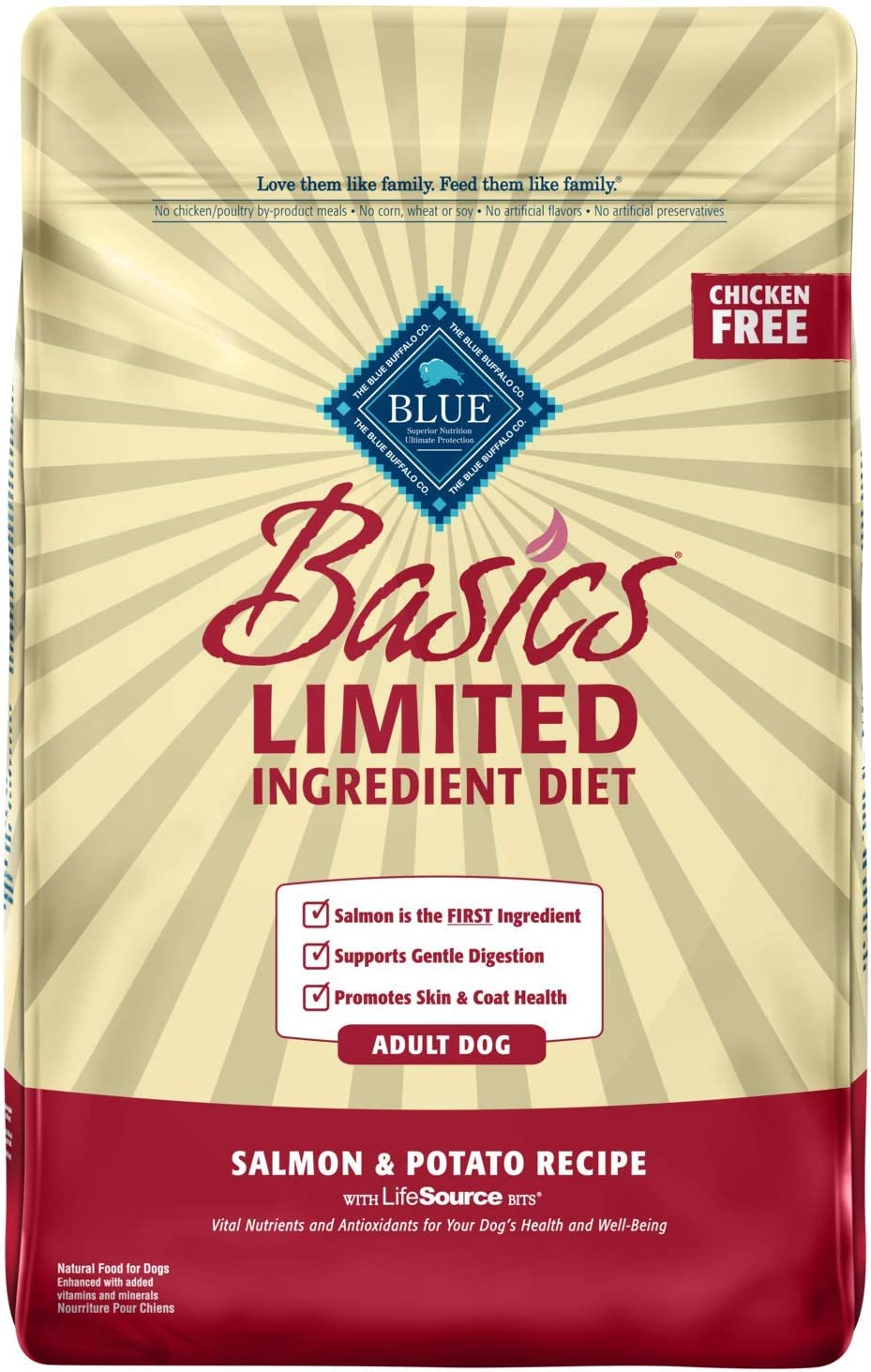 Blue Buffalo Basics Limited Ingredient Diet, Natural Adult Dry Dog Food