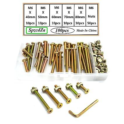 Bolts Nuts Kit M6 Hex Socket Head Cap Screws Nuts 110pcs For Crib
