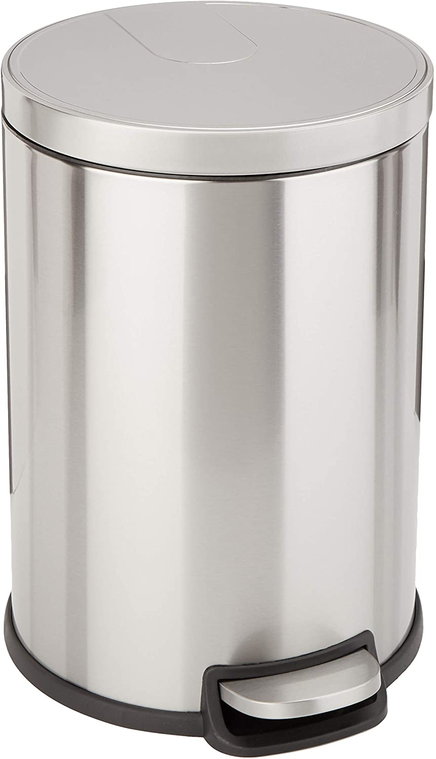 AmazonBasics Round Soft-Close Trash Can - 20L