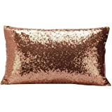 GBSELL Pillow Cover Glitter Sequins Rectangle Throw Pillow Case Cafe Home Party Valentine's Day Decor