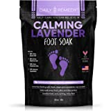Calming Lavender Foot Soak with Epsom Salt, Made in USA, Antifungal Foot Soak Soothes Sore Tired Feet, Athletes Foot, Stubborn Foot Odor, Softens Calluses & Helps Treat Toenail Fungus, 32 oz (2 lbs)