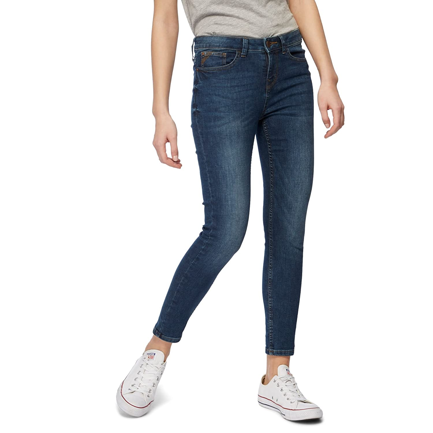Red Herring Womens Mid Blue 'Holly' Skinny Ankle Grazer Jeans