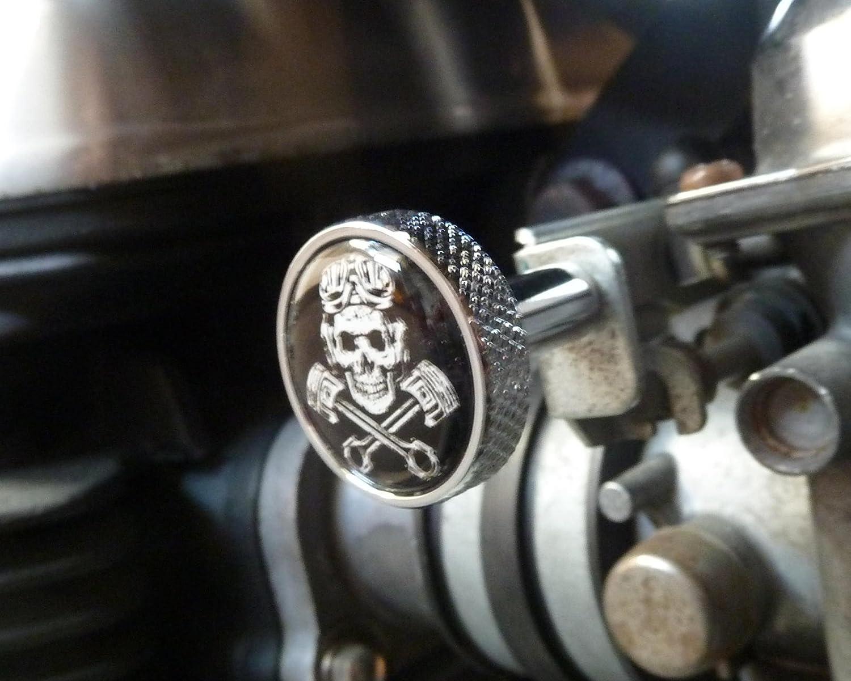 Choke ckoke pulsante alluminio Triumph Scrambler Bonneville Thruxton America Speed Master 40209