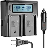 NEW Dual Channel LCD Display Charger For Sony  NP-F550 NP-F570 NP-F750 NP-F770 NP-F930 NP-F950 NP-F960 NP-F970 NP-FM55H NP-FM500H NP-QM71 NP-QM91 NP-QM71D NP-QM91D Camcorder Batteries