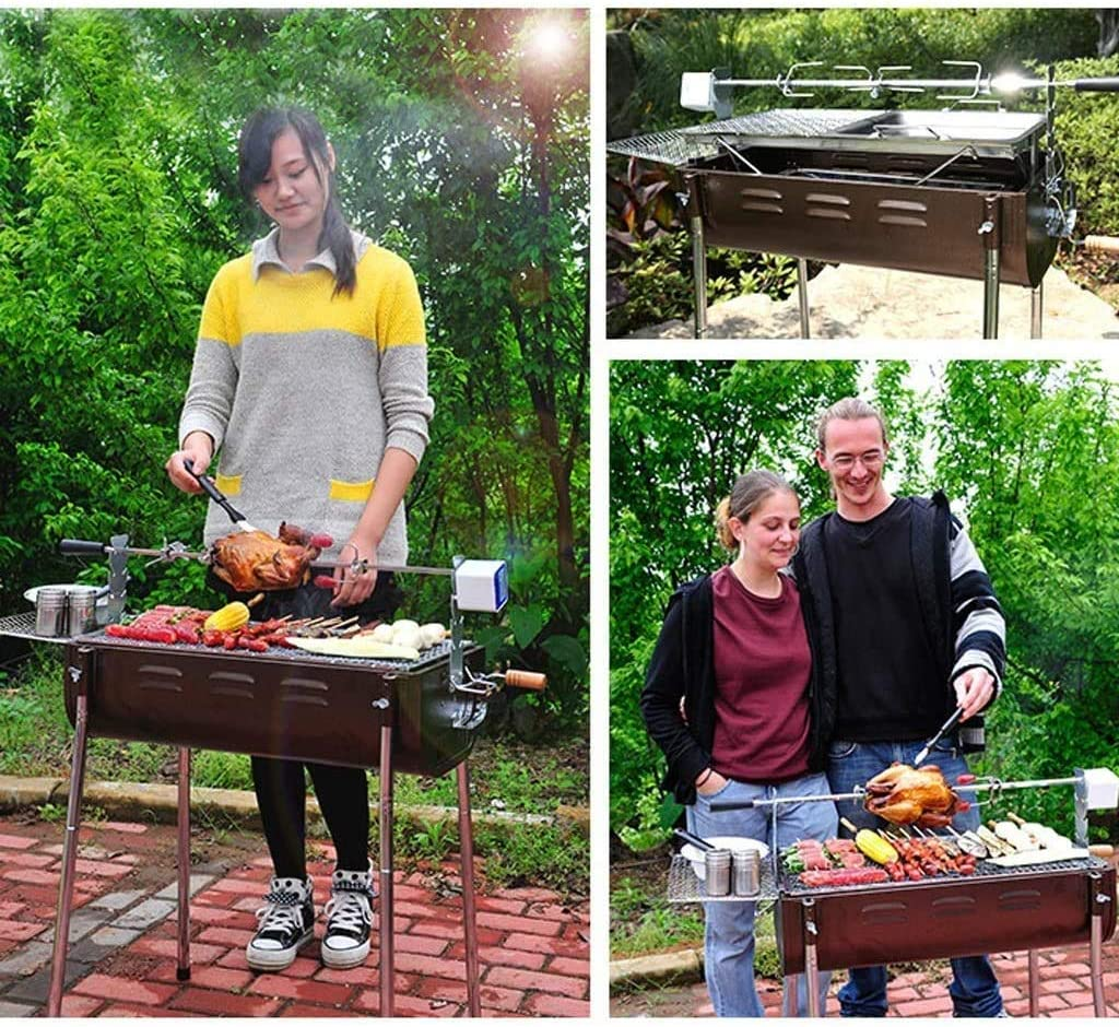 Barbecue, Maison portable en plein air for plus de 5 personnes épaissis Outils Barbecue au charbon Barbecue à charbon @ (Couleur: B) (Couleur: D) HAOSHUAI (Color : C) E