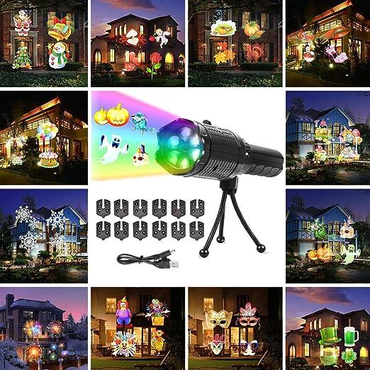 FONCBIEN Luces De Proyector De Navidad, Luz De Proyección LED Con ...