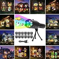 FONCBIEN Luces De Proyector De Navidad, Luz De Proyección LED Con 12 Patrones, Luz De Proyector De Vacaciones Al Aire…