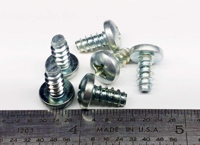 "100 PC Zinc Plated Steel 10 x 3//8/"" Pan Head Phillips Sheet Metal Screws"