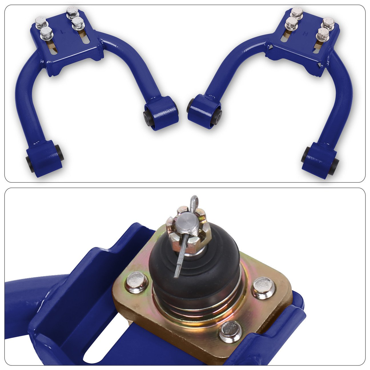 AJP Distributors Blue Front Upper Camber Kit For Honda Civic Ej6 Ej7 Ej8 Em1 Ej6 Ek1 Ek2 Ek3 Ek4 Ek9 Ej6 Ej9 Ek Assembly Suspension Performance Upgrade Stability Replacement