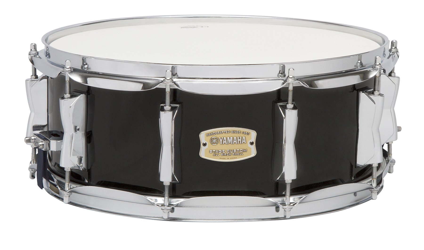 Yamaha Stage Custom Birch 14x5.5 Snare Drum, Raven Black by Yamaha PAC