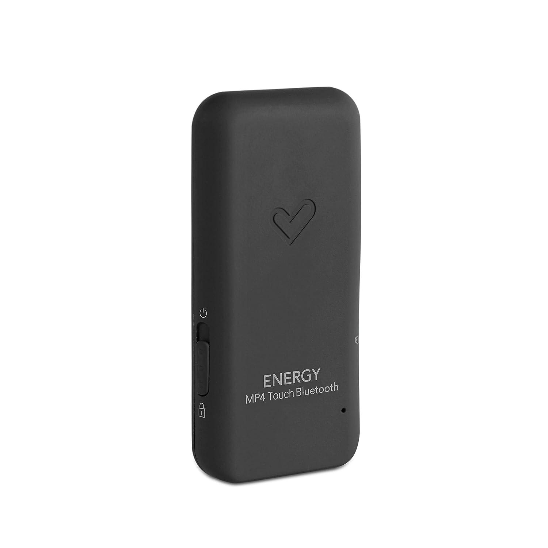 Energy Sistem Touch Amber - Reproductor MP4 con tecnología Bluetooth (16 GB, auriculares intrauditivos, radio FM, MicroSD) color negro y ámbar: ...