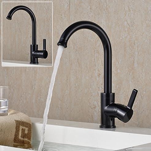 Auralum® 360° Drehbar Schwarz Küche Armatur Einhandmischer ...
