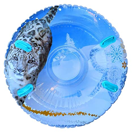 2806e83d0e2 Image Unavailable. Image not available for. Color  Aqua Pipeline SNO Snow  Leopard 3D MEGA Inflatable 2 Person Snow Tube with 4 Grip Handles