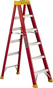 Louisville Ladder L-3016-06 300-Pound Duty Rating Fiberglass Stepladder, 6-Feet