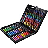MagiDeal 150 Pieces Art Set Childrens/Kids Colouring Drawing Painting Arts & Crafts Case Water Color Pen Colored Pencils Crayon Oil Pastel Paint Brush Drawing Tool Art School Stationery set