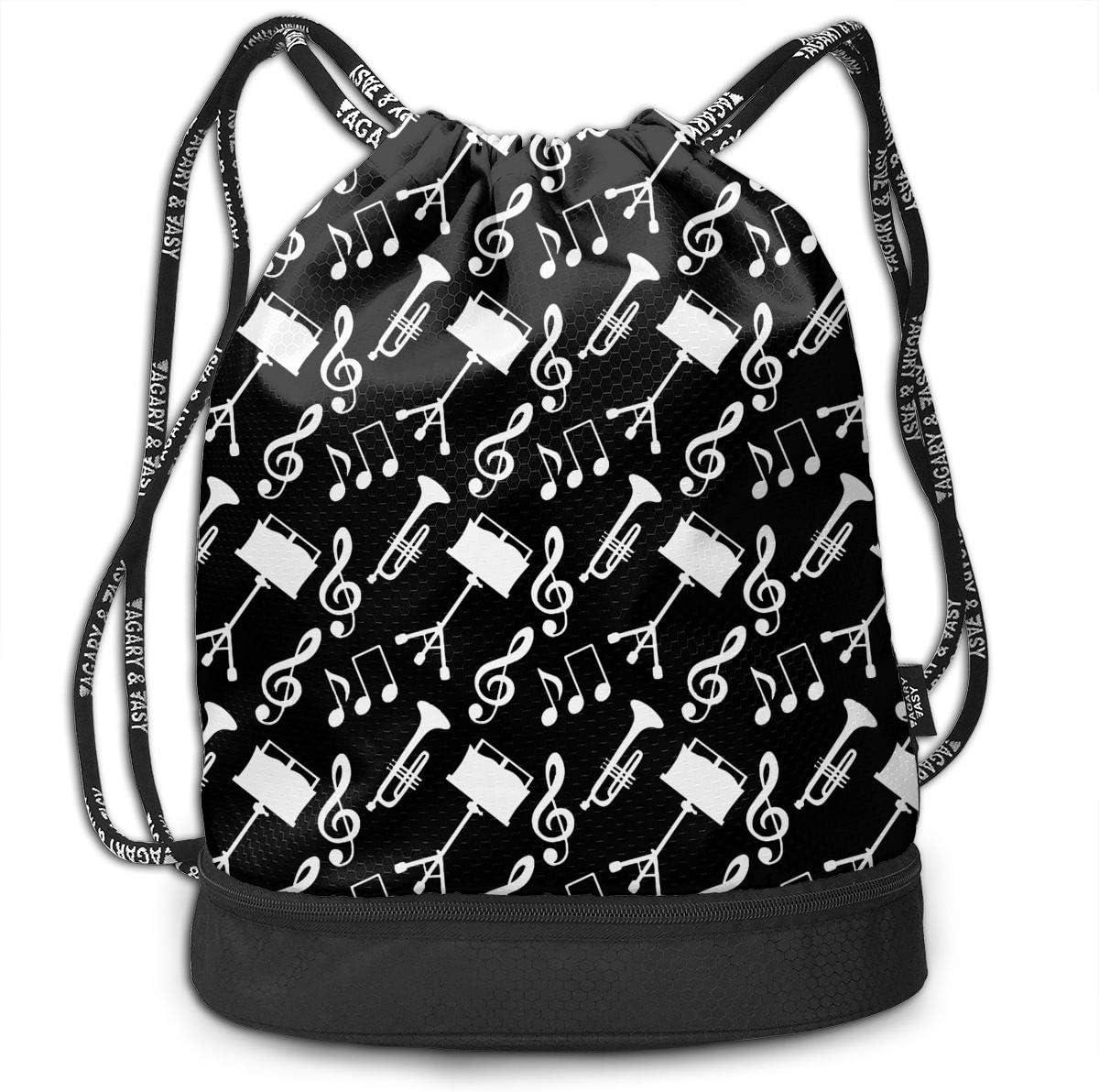 Drawstring Backpack Trumpets Gym Bag