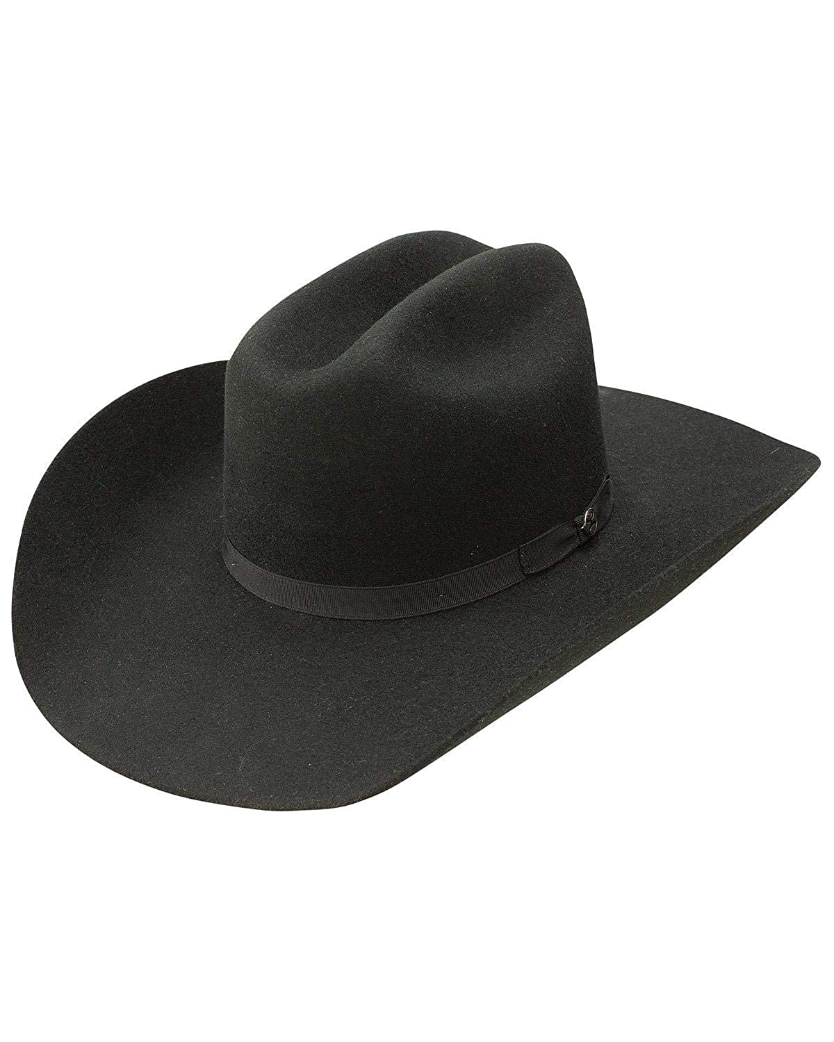 14693f0c8d2 Resistol Men s Hooey Maverick 4X Wool Felt Cowboy Hat Black 7 1 4 at Amazon  Men s Clothing store