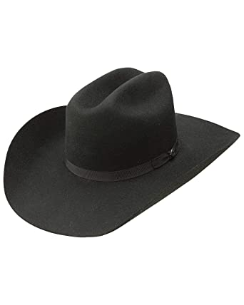 a0e9a6ba76c Image Unavailable. Image not available for. Color  Resistol Men s Hooey  Maverick 4X Wool Felt Cowboy Hat Black 7 1 4