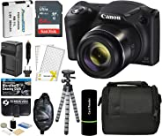 Canon PowerShot SX420 IS Digital Camera (Black) with 20MP, 42x Optical Zoom, 720p HD Video & Built-In Wi-Fi + 64GB Card + Re