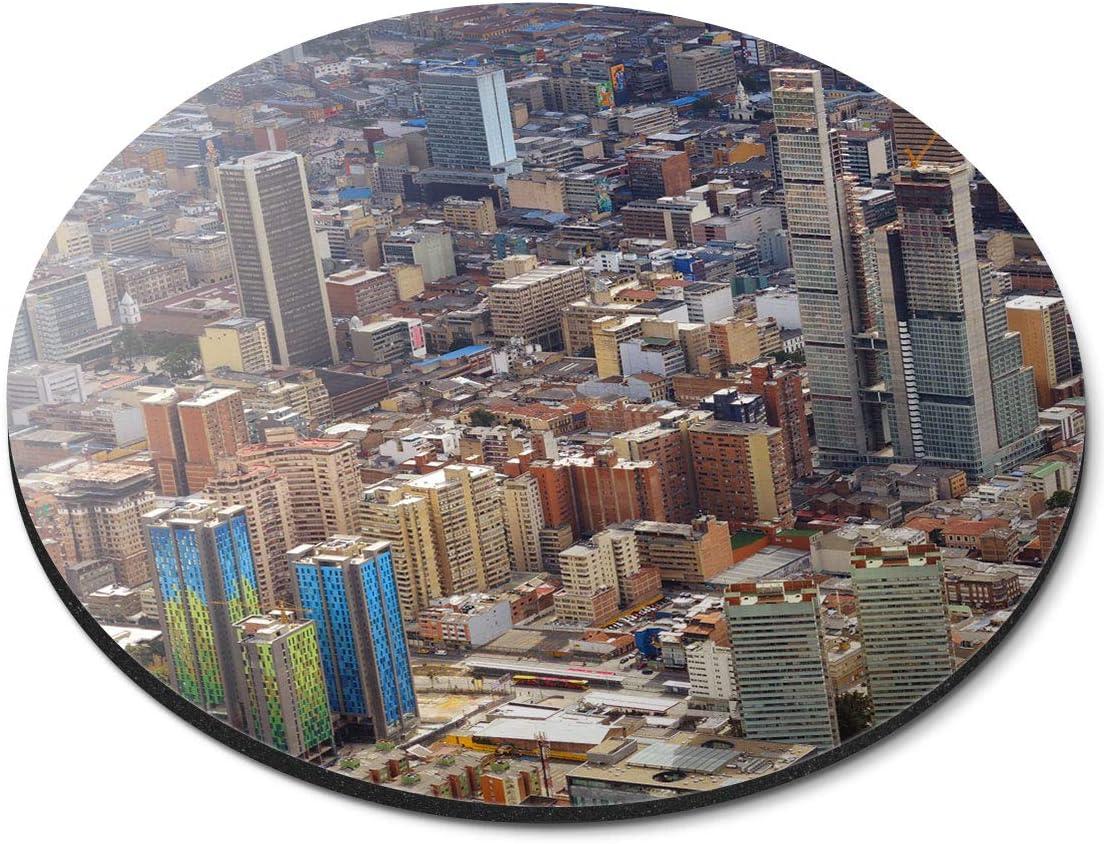 Alfombrilla Redonda para ratón – Bogotá Colombia City Cityscape Office Gift – RM21271