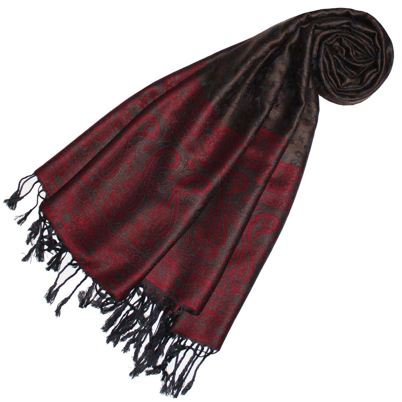 Lorenzo Cana Designer Pashmina hochwertiger Marken-Schal jacquard gewebtes Paisley Muster 70 x 180 cm Modal harmonische Farben Schaltuch Schal Tuch 93227