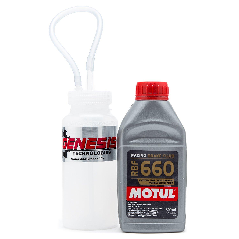 Brake Bleeding Kit With Magnet Mount Bleeder Bottle And Motul 847205 RBF 660 by Genesis Technologies
