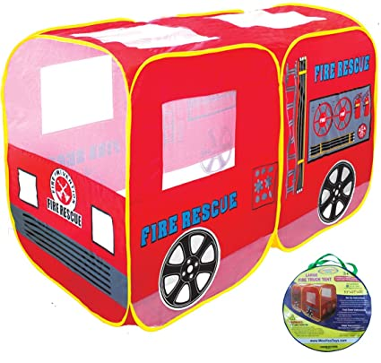 WooHoo Toys Large Red Fire Engine Truck Pop-Up Play Tent- with Back Door  sc 1 st  Amazon.com & Amazon.com: WooHoo Toys Large Red Fire Engine Truck Pop-Up Play ...
