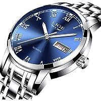 LIGE Orologio Uomo Militare Multifunzione Impermeabile Cronografo analogico al quarzo Watch