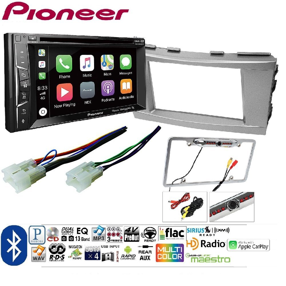 Pioneer Avh 1400nex Double Din Apple Carplay In Dash W 1930 Model A Wiring Harness Touchscreen Toyota Camry 2007 2008 2009 2010 2011 Car Stereo Radio Cd Player Receiver Install Mounting Kit Wire Electronics