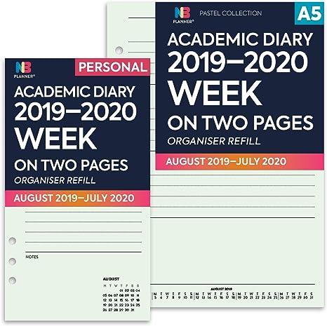 NBplanner® 2019-2020 - Agenda escolar con dos páginas, color verde ...