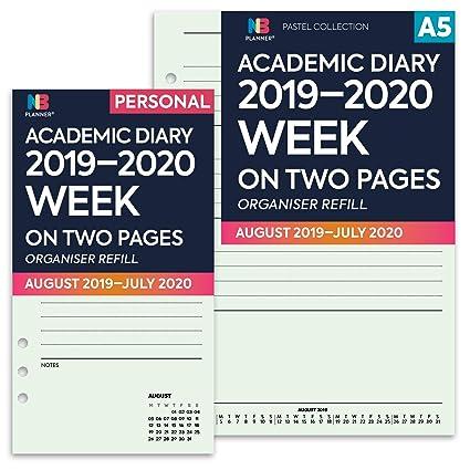 NBplanner® 2019-2020 - Agenda escolar con dos páginas, color ...