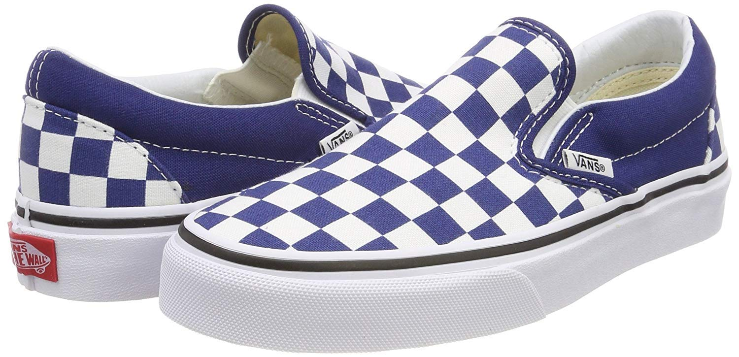 Classic Slip On (Checkerboard) Estate Blu,Size 10.5 M US Women / 9 M US Men