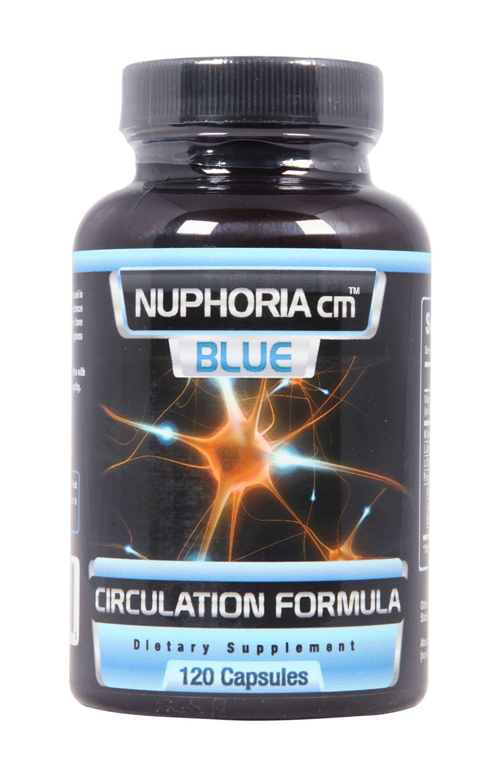 Nuphoria Blue - Neuropathy Supplement with Acetyl L-Carnitine - Supports Circulation - 30 Day Supply (120 Count) by Nuphoria cm (Image #1)