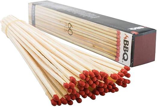 Bbq - Cerillas barbacoa 27cm. 60p. caja: Amazon.es: Salud y cuidado personal