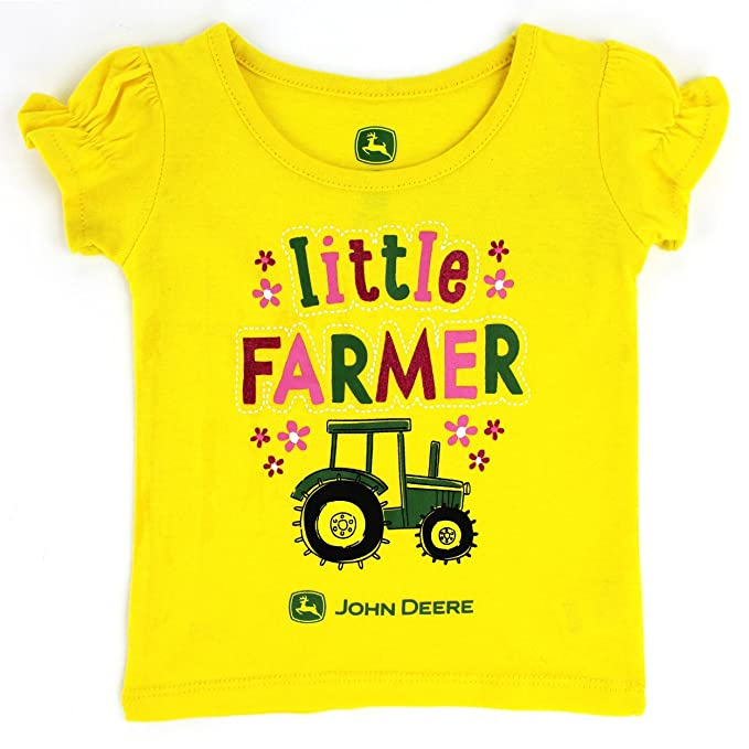 140c8103 Amazon.com: John Deere Toddler Girls Short Sleeve Tee (2T, Yellow): Clothing