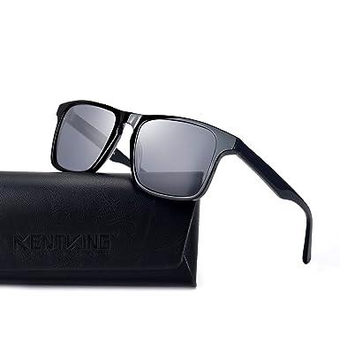 deaee0325dc Amazon.com  KENTKING Men s rectangular Square Designer Sunglasses ...